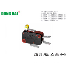 Electric Micro Switch Short Metal Hinge Roller Lever